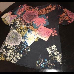 NWOT Citron Santa Monica Silk blouse